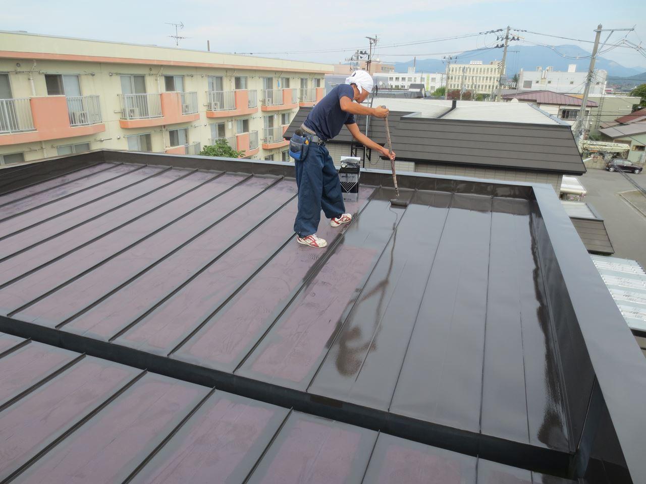 金属屋根塗装の施工手順